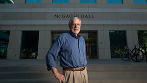 McGaugh in front of McGaugh Hall_300px